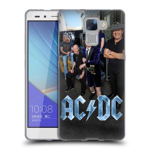 Silikonové pouzdro na mobil Honor 7 HEAD CASE AC/DC Skupina barevně