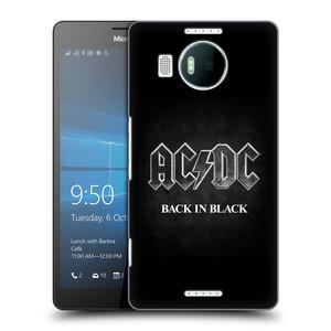 Plastové pouzdro na mobil Microsoft Lumia 950 XL HEAD CASE AC/DC BACK IN BLACK