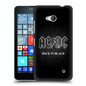 Plastové pouzdro na mobil Microsoft Lumia 640 HEAD CASE AC/DC BACK IN BLACK