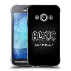 Silikonové pouzdro na mobil Samsung Galaxy Xcover 3 HEAD CASE AC/DC BACK IN BLACK