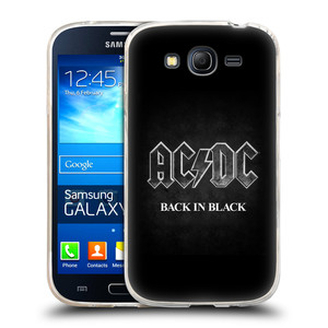 Silikonové pouzdro na mobil Samsung Galaxy Grand Neo Plus HEAD CASE AC/DC BACK IN BLACK