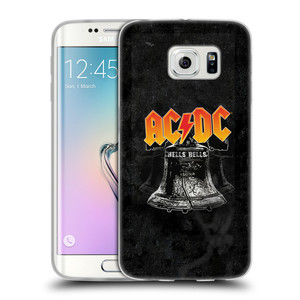 Silikonové pouzdro na mobil Samsung Galaxy S6 Edge HEAD CASE AC/DC Hells Bells