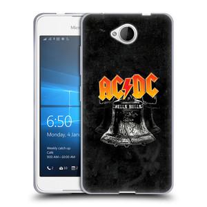 Silikonové pouzdro na mobil Microsoft Lumia 650 HEAD CASE AC/DC Hells Bells