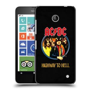 Plastové pouzdro na mobil Nokia Lumia 630 HEAD CASE AC/DC Highway to Hell