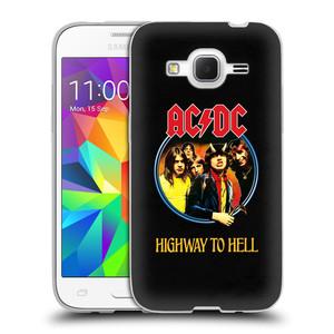 Silikonové pouzdro na mobil Samsung Galaxy Core Prime LTE HEAD CASE AC/DC Highway to Hell
