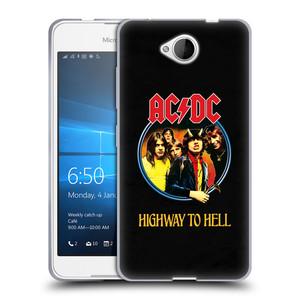 Silikonové pouzdro na mobil Microsoft Lumia 650 HEAD CASE AC/DC Highway to Hell