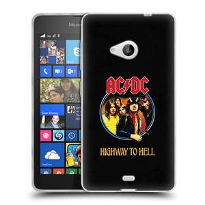 Silikonové pouzdro na mobil Microsoft Lumia 535 HEAD CASE AC/DC Highway to Hell