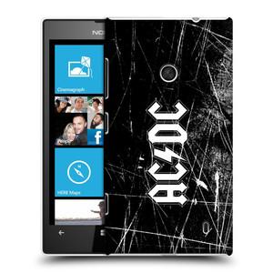 Plastové pouzdro na mobil Nokia Lumia 520 HEAD CASE AC/DC Černobílé logo