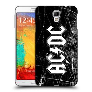 Plastové pouzdro na mobil Samsung Galaxy Note 3 Neo HEAD CASE AC/DC Černobílé logo