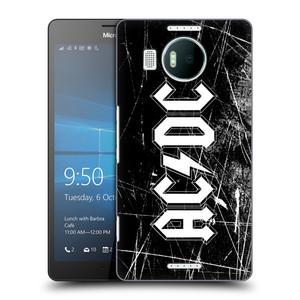 Plastové pouzdro na mobil Microsoft Lumia 950 XL HEAD CASE AC/DC Černobílé logo