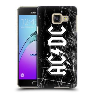 Plastové pouzdro na mobil Samsung Galaxy A3 (2016) HEAD CASE AC/DC Černobílé logo