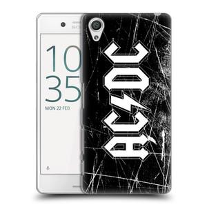 Plastové pouzdro na mobil Sony Xperia X Performance HEAD CASE AC/DC Černobílé logo