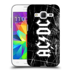 Plastové pouzdro na mobil Samsung Galaxy Core Prime LTE HEAD CASE AC/DC Černobílé logo