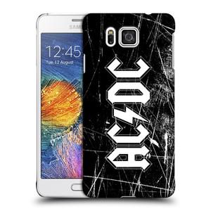 Plastové pouzdro na mobil Samsung Galaxy Alpha HEAD CASE AC/DC Černobílé logo