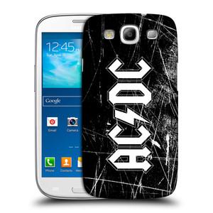 Plastové pouzdro na mobil Samsung Galaxy S3 Neo HEAD CASE AC/DC Černobílé logo