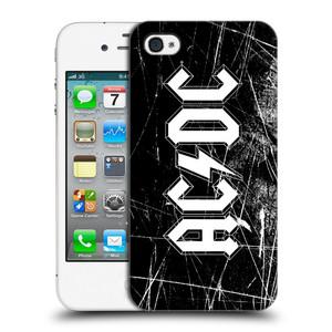 Plastové pouzdro na mobil Apple iPhone 4 a 4S HEAD CASE AC/DC Černobílé logo