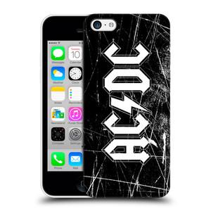 Plastové pouzdro na mobil Apple iPhone 5C HEAD CASE AC/DC Černobílé logo