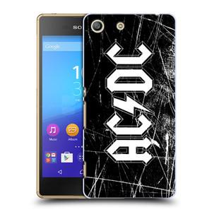 Plastové pouzdro na mobil Sony Xperia M5 HEAD CASE AC/DC Černobílé logo