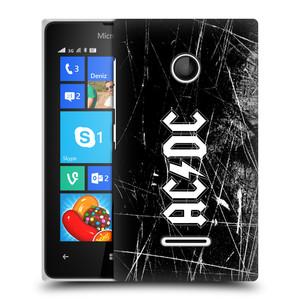 Plastové pouzdro na mobil Microsoft Lumia 435 HEAD CASE AC/DC Černobílé logo