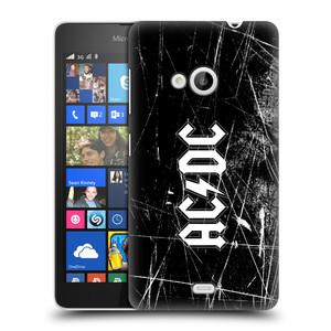 Plastové pouzdro na mobil Microsoft Lumia 535 HEAD CASE AC/DC Černobílé logo