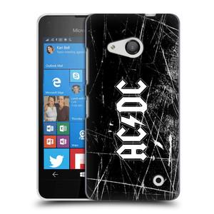 Plastové pouzdro na mobil Microsoft Lumia 550 HEAD CASE AC/DC Černobílé logo