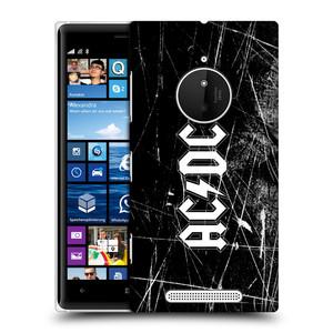 Plastové pouzdro na mobil Nokia Lumia 830 HEAD CASE AC/DC Černobílé logo