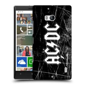 Plastové pouzdro na mobil Nokia Lumia 930 HEAD CASE AC/DC Černobílé logo