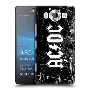 Plastové pouzdro na mobil Microsoft Lumia 950 HEAD CASE AC/DC Černobílé logo