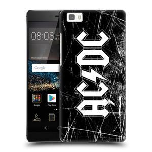 Plastové pouzdro na mobil Huawei P8 Lite HEAD CASE AC/DC Černobílé logo