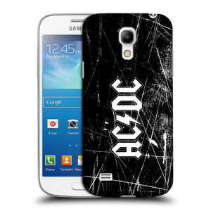 Plastové pouzdro na mobil Samsung Galaxy S4 Mini VE HEAD CASE AC/DC Černobílé logo