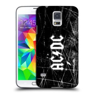 Plastové pouzdro na mobil Samsung Galaxy S5 HEAD CASE AC/DC Černobílé logo