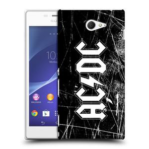 Plastové pouzdro na mobil Sony Xperia M2 D2303 HEAD CASE AC/DC Černobílé logo
