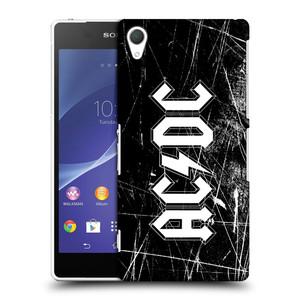 Plastové pouzdro na mobil Sony Xperia Z2 D6503 HEAD CASE AC/DC Černobílé logo