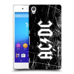 Plastové pouzdro na mobil Sony Xperia Z3+ (Plus) HEAD CASE AC/DC Černobílé logo