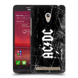 Plastové pouzdro na mobil Asus Zenfone 6 HEAD CASE AC/DC Černobílé logo