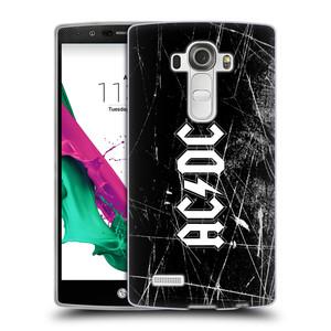 Silikonové pouzdro na mobil LG G4 HEAD CASE AC/DC Černobílé logo