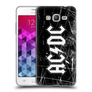 Silikonové pouzdro na mobil Samsung Galaxy Grand Prime VE HEAD CASE AC/DC Černobílé logo