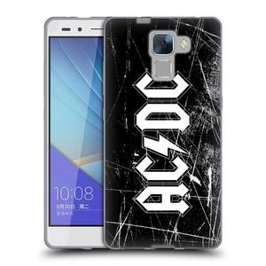 Silikonové pouzdro na mobil Honor 7 HEAD CASE AC/DC Černobílé logo