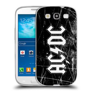 Silikonové pouzdro na mobil Samsung Galaxy S3 Neo HEAD CASE AC/DC Černobílé logo