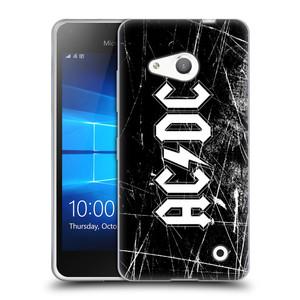 Silikonové pouzdro na mobil Microsoft Lumia 550 HEAD CASE AC/DC Černobílé logo