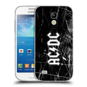 Silikonové pouzdro na mobil Samsung Galaxy S4 Mini HEAD CASE AC/DC Černobílé logo