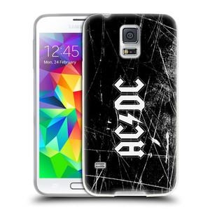 Silikonové pouzdro na mobil Samsung Galaxy S5 Neo HEAD CASE AC/DC Černobílé logo