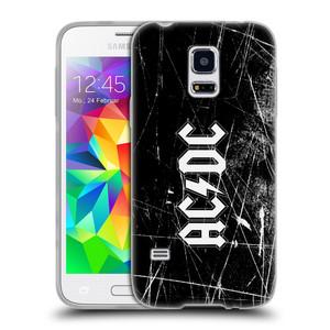 Silikonové pouzdro na mobil Samsung Galaxy S5 Mini HEAD CASE AC/DC Černobílé logo