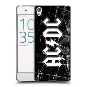 Silikonové pouzdro na mobil Sony Xperia XA HEAD CASE AC/DC Černobílé logo