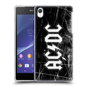 Silikonové pouzdro na mobil Sony Xperia Z2 D6503 HEAD CASE AC/DC Černobílé logo
