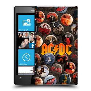 Plastové pouzdro na mobil Nokia Lumia 520 HEAD CASE AC/DC Placky