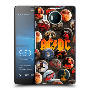 Plastové pouzdro na mobil Microsoft Lumia 950 XL HEAD CASE AC/DC Placky