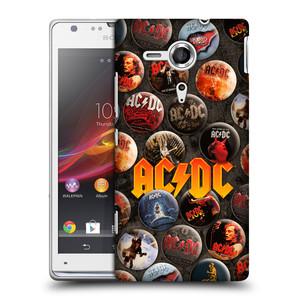 Plastové pouzdro na mobil Sony Xperia SP C5303 HEAD CASE AC/DC Placky
