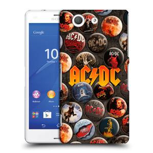 Plastové pouzdro na mobil Sony Xperia Z3 Compact D5803 HEAD CASE AC/DC Placky
