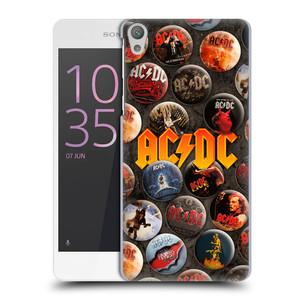 Plastové pouzdro na mobil Sony Xperia E5 HEAD CASE AC/DC Placky